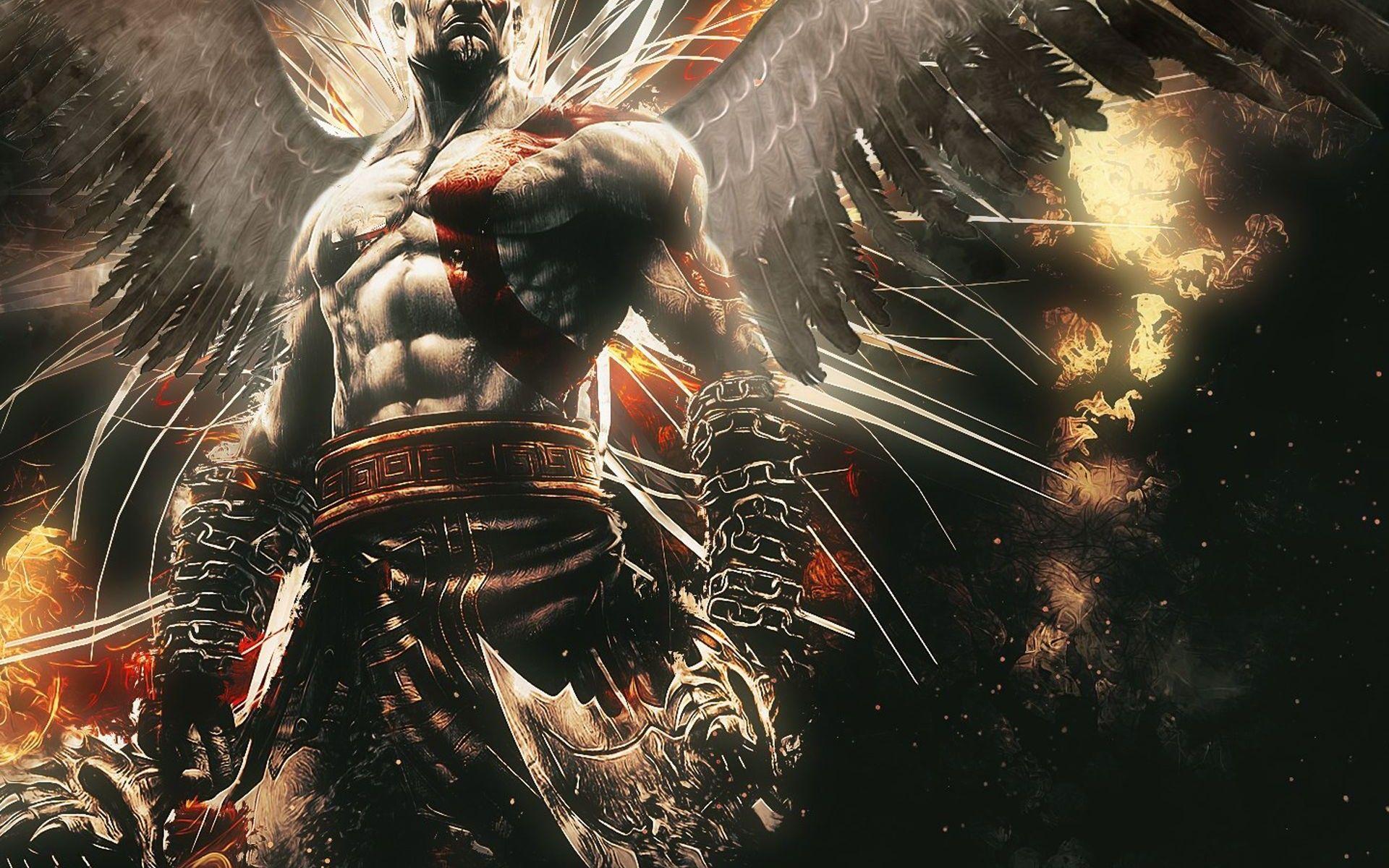 God Of War Kratos God Of War Custom Canvas Art
