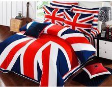 Bandiera inglese stampa bedding set 100% cotone 4 pz (1 copripiumino ...