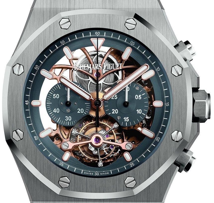 82d6aaa4e1f3 Audemars Piguet Royal Oak Tourbillon Chronograph Openworked In Platinum -  Perpetuelle Relojes De Lujo