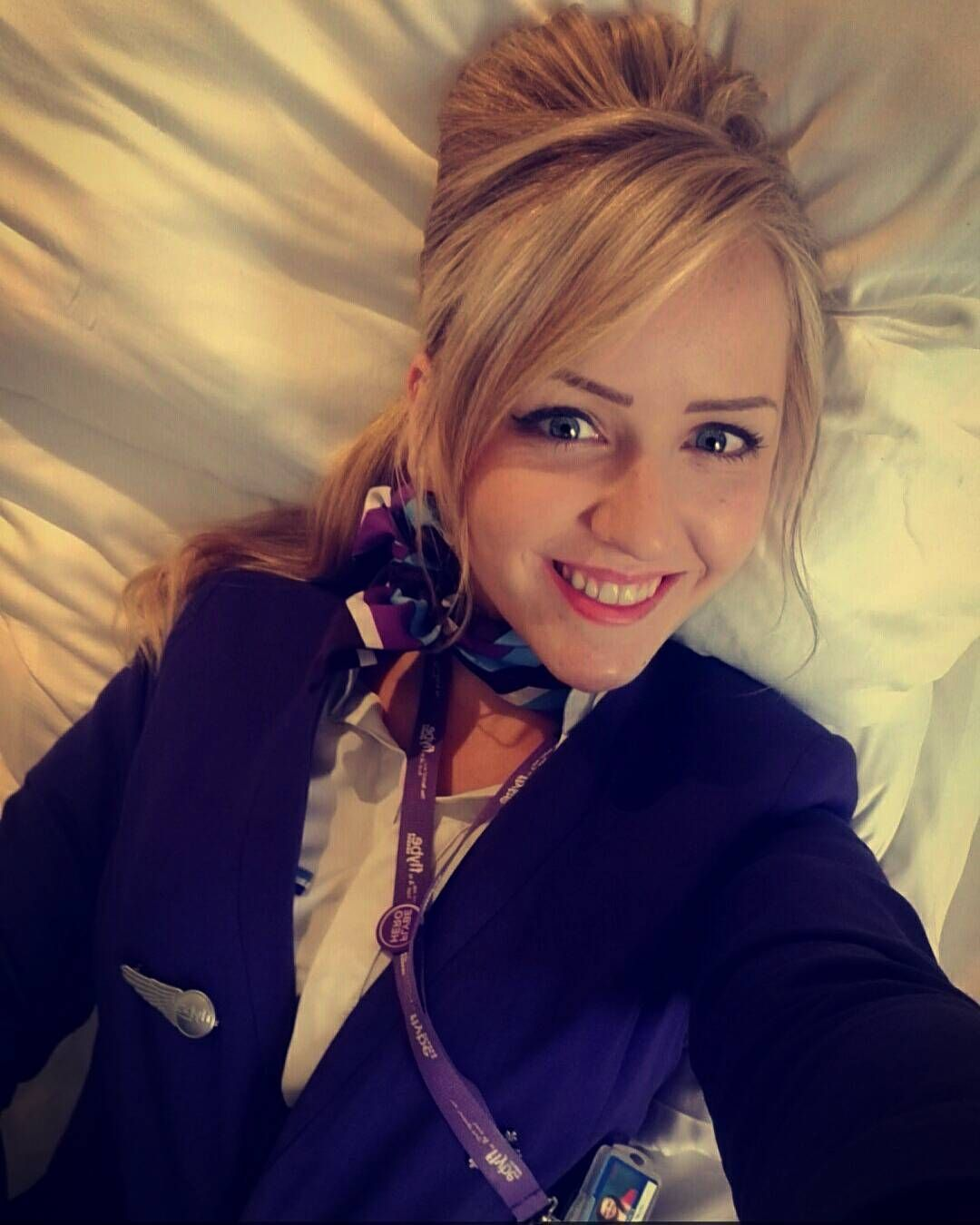 hotels are boring so let's take selfies #soz #crewlife #airhostess