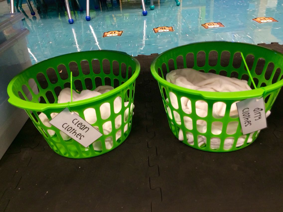 Creative curriculum clothing study - laundromat clothes sorting ...