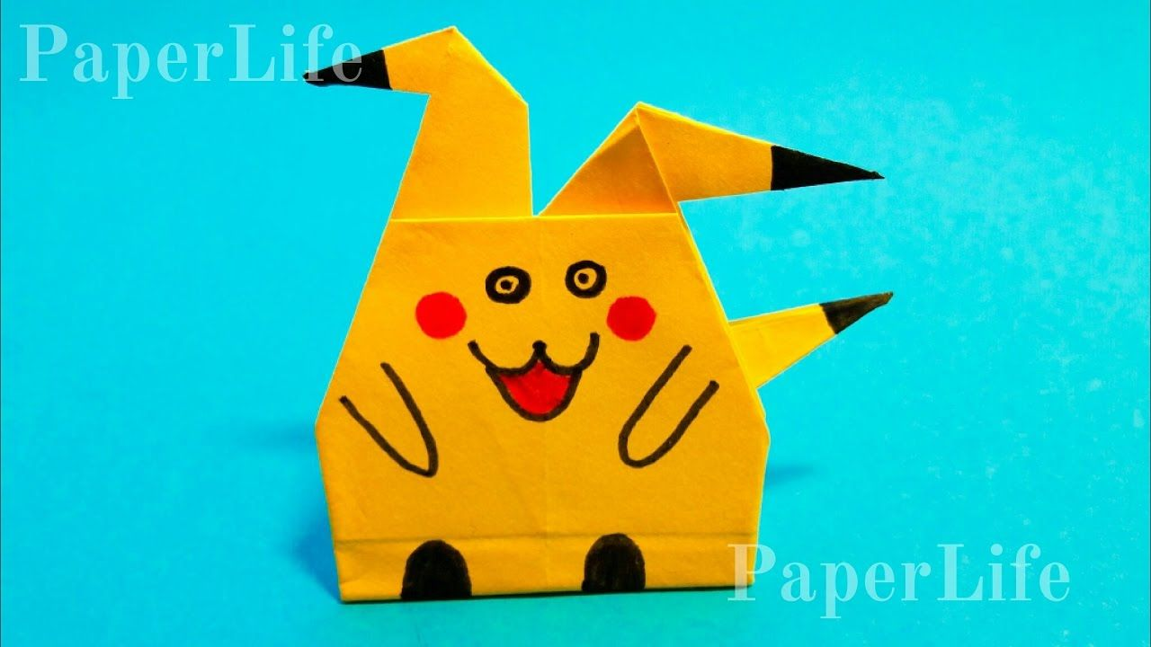Photo of Origami Pokemon Pikachu, step by step, easy to fold, easy to follow HD tutorial