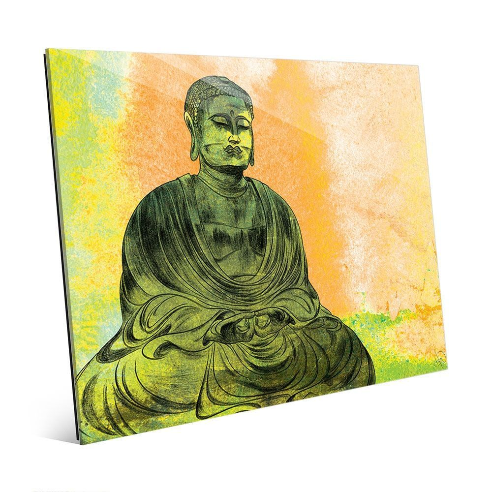 Red) Lotus Buddha Wall Art Print on Acrylic ( Lotus Buddha 11\