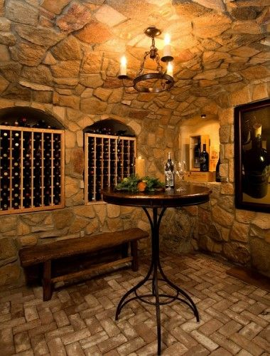 Beautiful Basement Wine Cellar