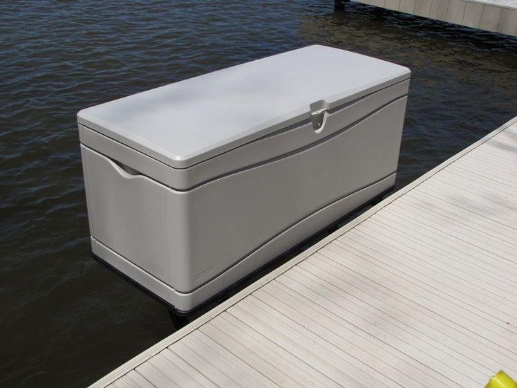 Lifetime Dock Box Mounted On Dock Sides Dock Box Mounts Storage