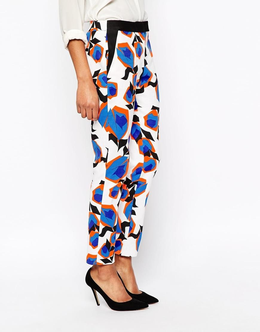 River Island | River Island Bold Floral Cigarette Trouser at ASOS