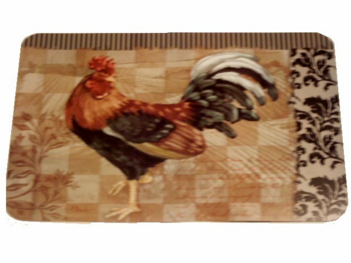 Rooster Kitchen Decor Country Rooster Placemats Set Set Of 4 Placemats Proudly Made In