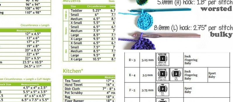 size charts http://www.dailycrochet.com/3-awesome-printable-cheat-sheets-to-use-for-crochet-project/