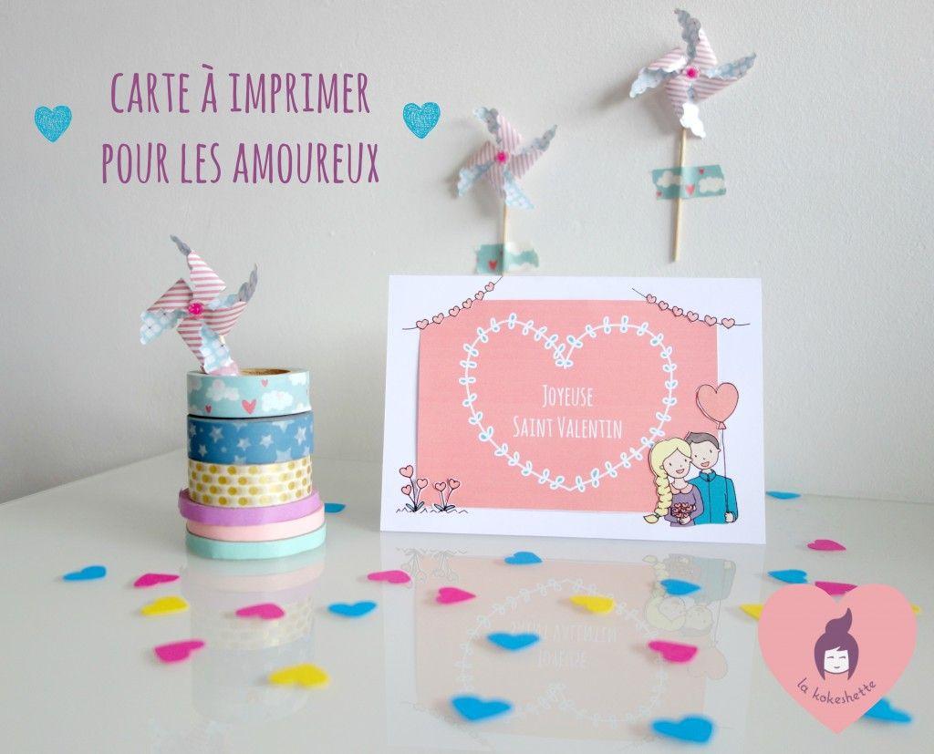Diy Saint Valentin La Carte Cadre Photo A Imprimer Saint