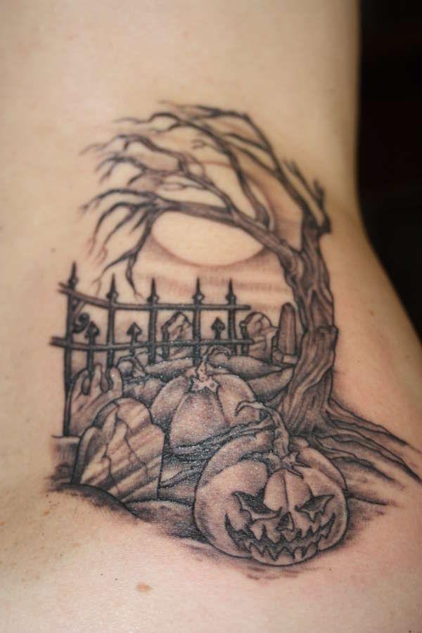 bdfd5814ba8e1 Top 10 Halloween Tattoo Designs | Halloween | Spooky tattoos, Pumpkin tattoo,  Graveyard tattoo
