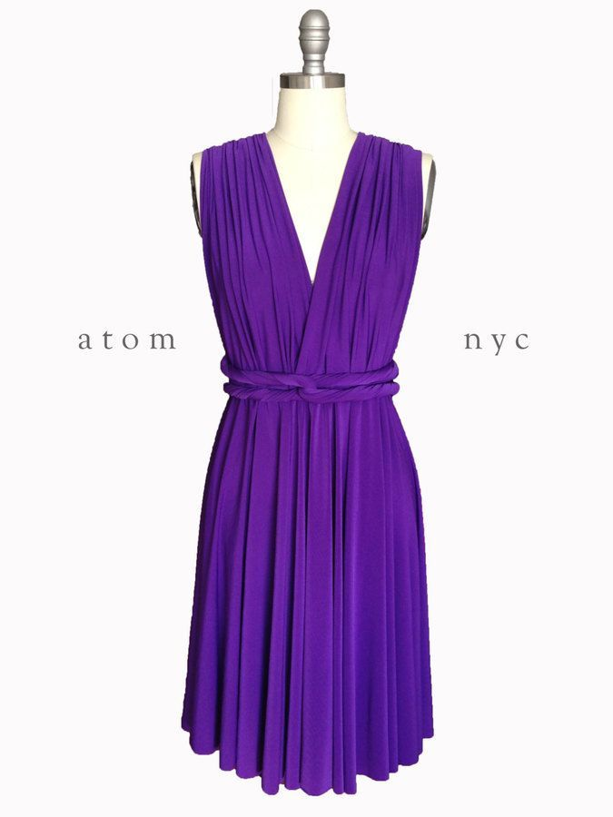 Etsy Royal Purple SHORT Infinity Dress Convertible Formal Multiway ...