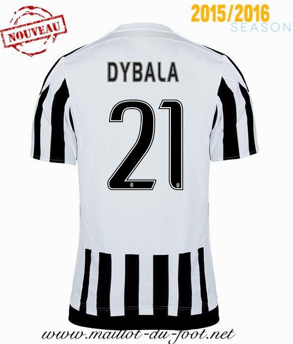 acheter Maillot de foot Juventus DYBALA 21 Domicile 2015 2016 grossiste