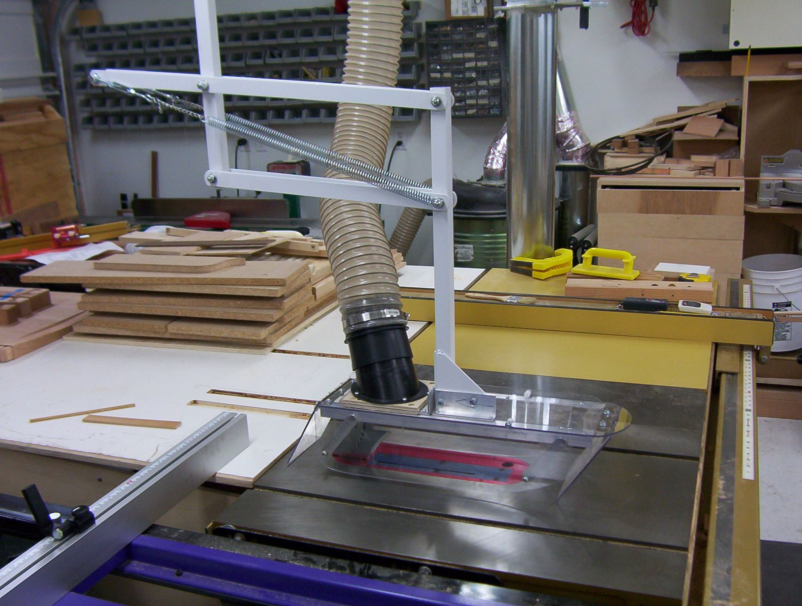 table saw blade guard dust collection Google Search