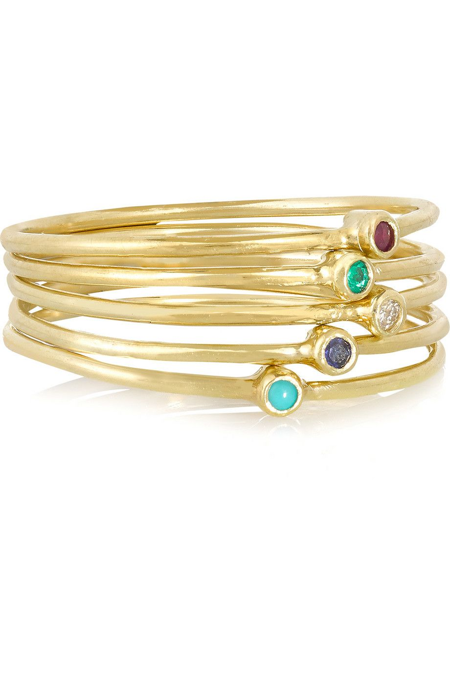 Jennifer Meyer 18-karat Gold Multi-stone Ring ApmRq9ju7P