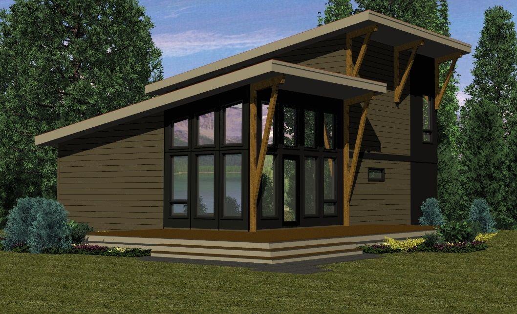 Sylvan Lake Contemporary Small Lake Houses Lake House Plans