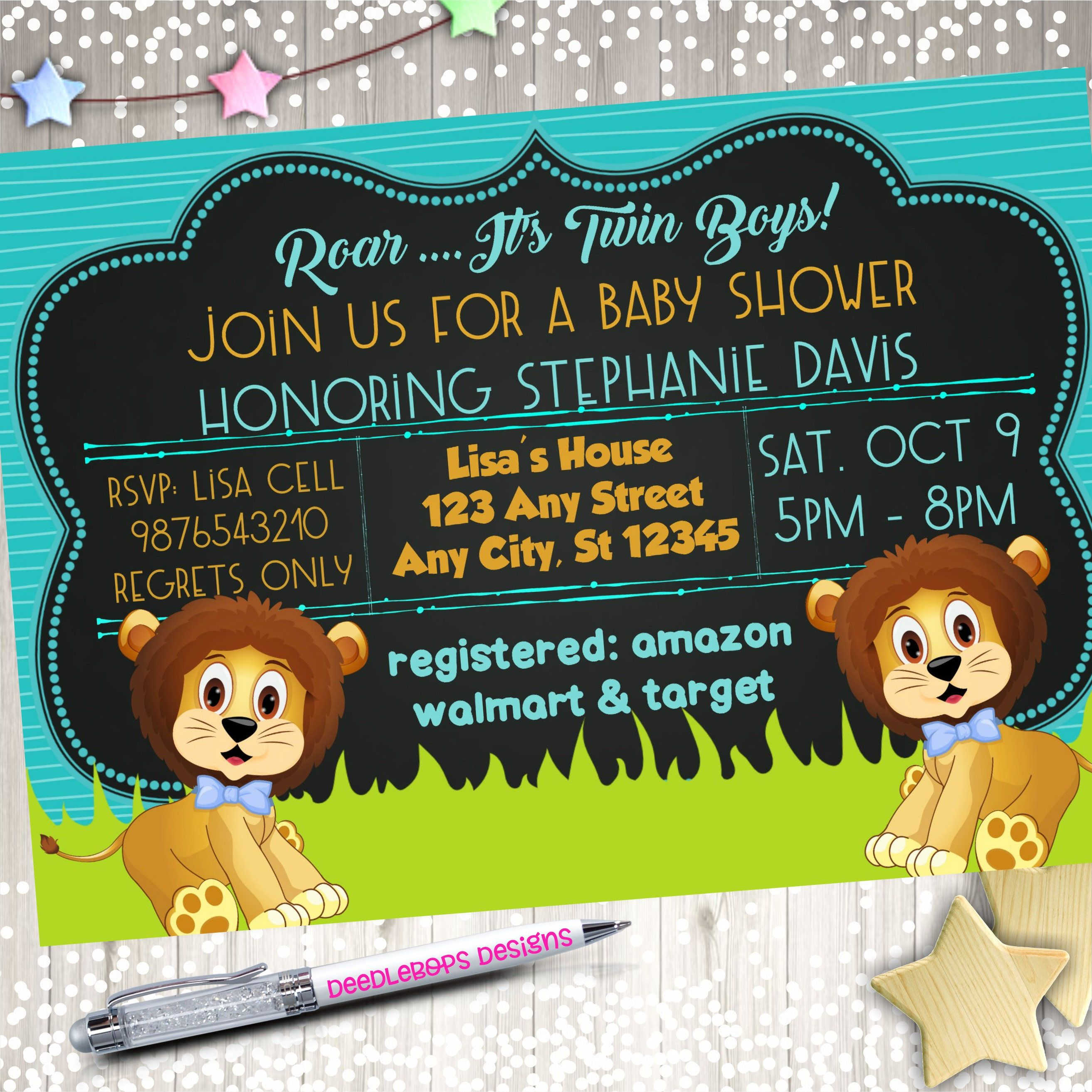 30 New Pics Jungle Baby Shower Invitations Free Template And