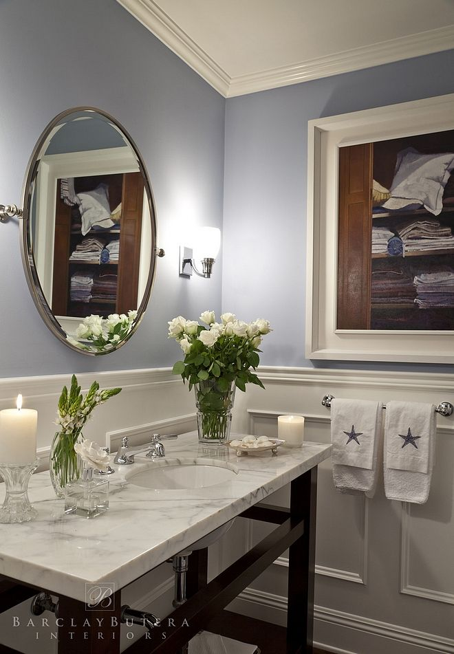 California Coastal Powder Room