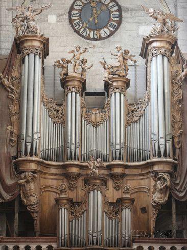 Notre-Dame De Dole Collegiate Church Organ, Dole, Jura, Franche-Comte, France, Europe Photographic Print at AllPosters.com