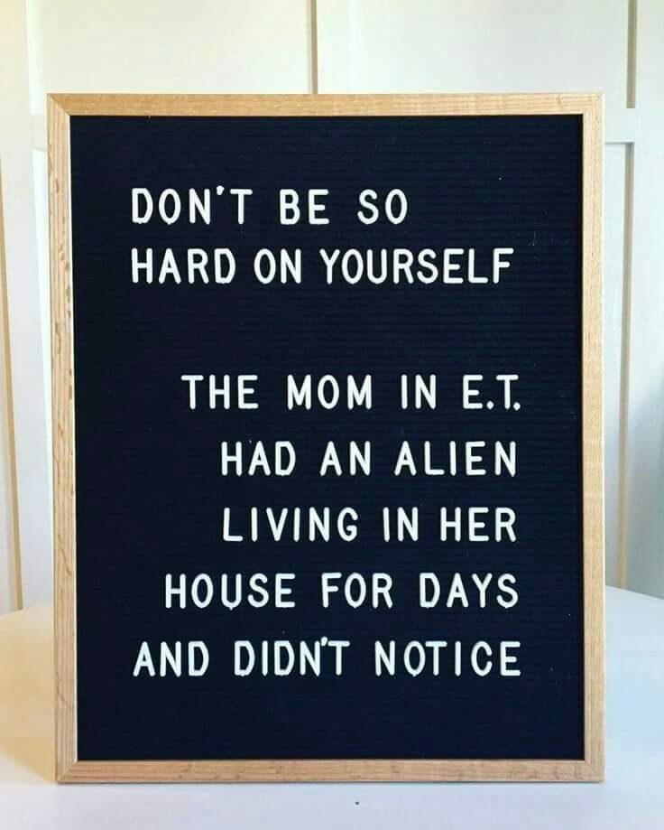 Don T Be So Hard On Yourself Funny Quotes Mom Humor Mom Quotes