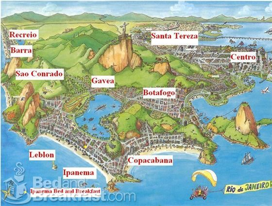 Rio De Janeiro Map obsessed with maps Pinterest Brazil