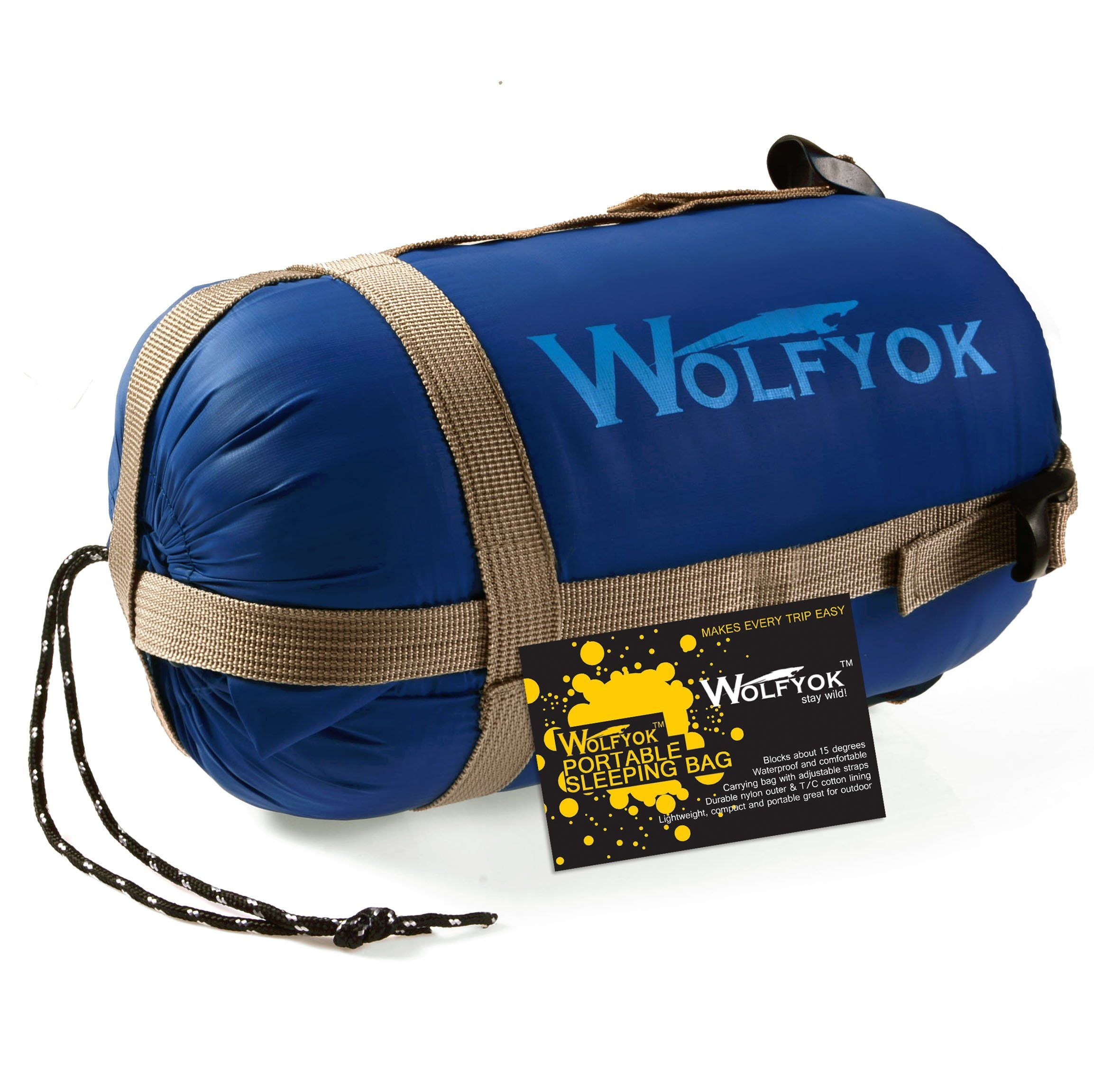 Wolfyok Tm Portable Outdoor Traveling Sleeping Bag Hiking Envelope Multifunctional Camping For Spring Summer Autumn