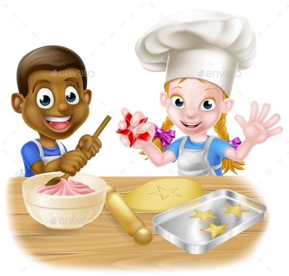 People Cooking Clipart