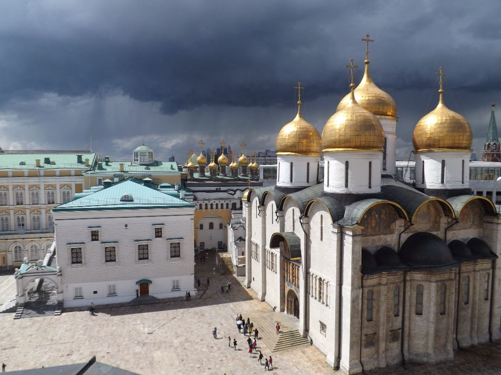 Cathedral square, Moscow Kremlin, Russia  Соборная площадь, Московский Кремль, Россия