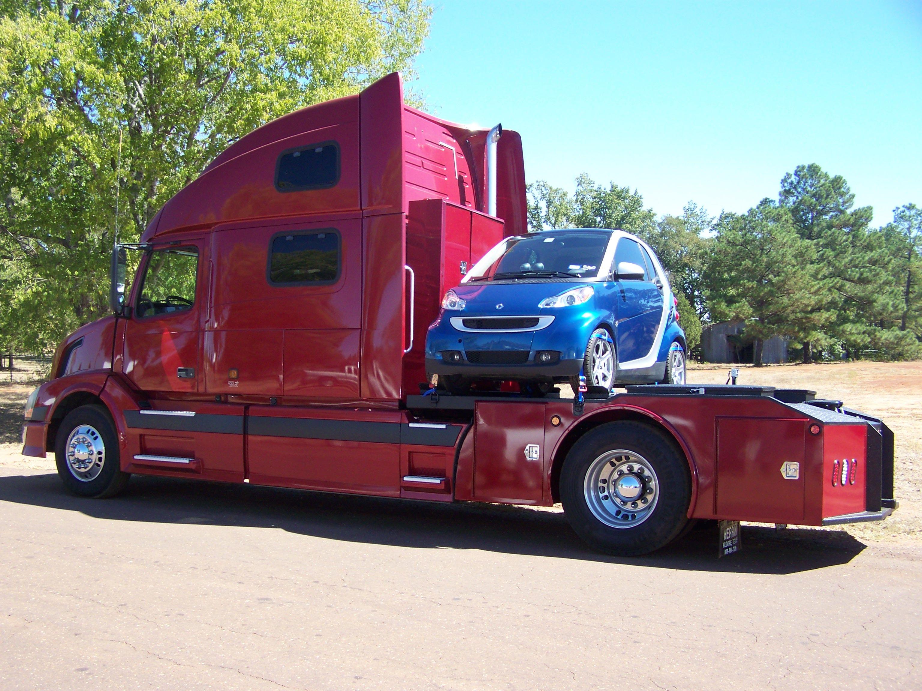 Volvo Smart Car RV hauler | Rv trailers, Trucks, Volvo trucks