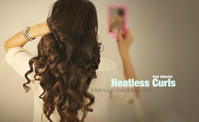 how to make your hair curly without heat videos
