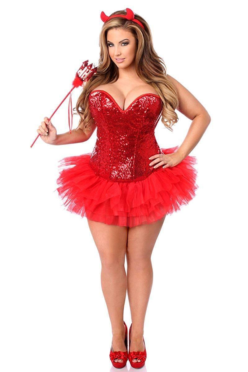 cc3cec165b Daisy Corsets Women s Plus-Size Top Drawer 4 Piece Sexy Devil Corset Costume