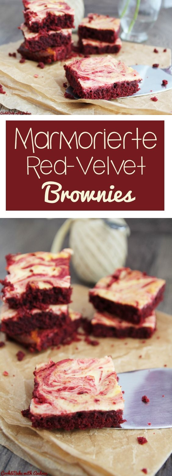 marmorierte red velvet brownies rezept vernetzteuch food pinterest kuchen backen und. Black Bedroom Furniture Sets. Home Design Ideas
