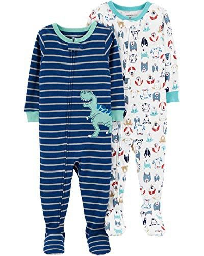 ac23a9301 Carter s Baby Boys  2-Pack Cotton Footed Pajamas
