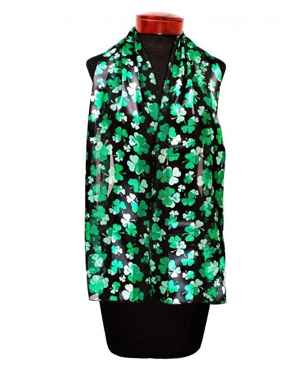 St.patrick's Shamrock Scarf One Size St. Patrick Design w/ Gift Pack By Knitting Factory Black-os3012 CR180233TD3