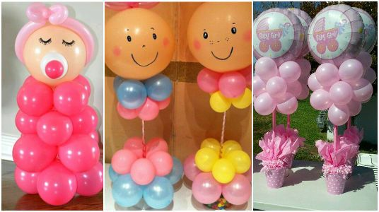 Ideas Para Decorar Un Baby Shower Con Globos