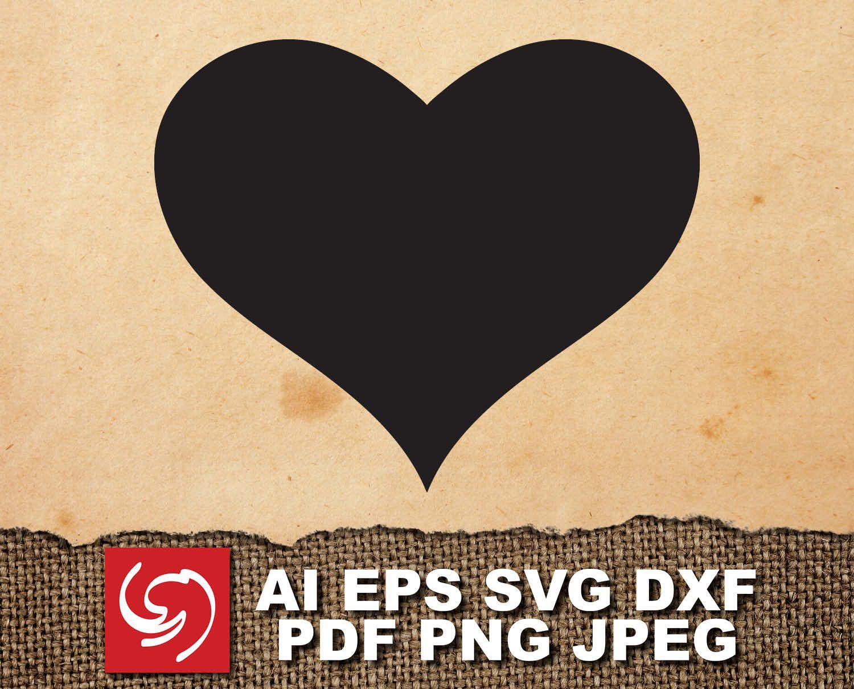 DOWNLOAD Heart Love Silhouette Shape ai, eps, dxf, svg, pdf, jpeg, png Love