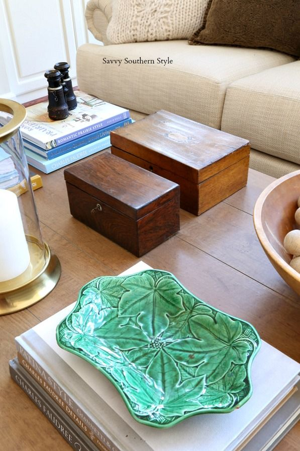 How I Styled My Winter Coffee Table
