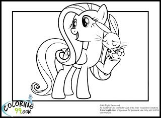 My Little Pony Fluttershy Coloring Pages My Little Pony Coloring