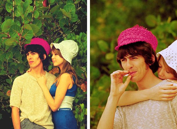 George Harrison And Pattie Boyd In The Bahamas