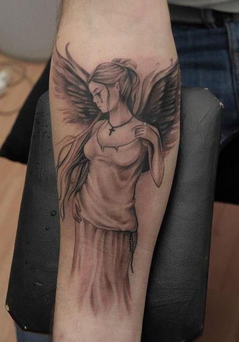 Girl Angel Tattoos Designs