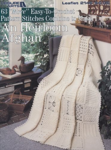 63-More-Stitches-Heirloom-Afghan-Leisure-Arts-Crochet-Pattern-Booklet-2146