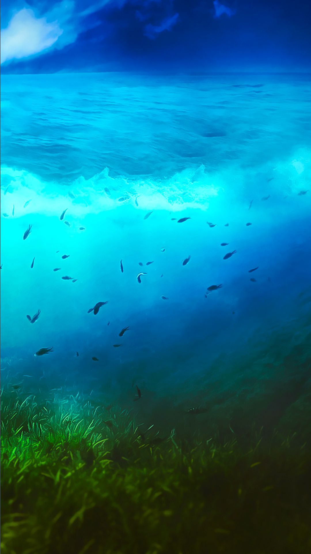 TAP AND GET THE FREE APP! Art Creative Sea Water Green