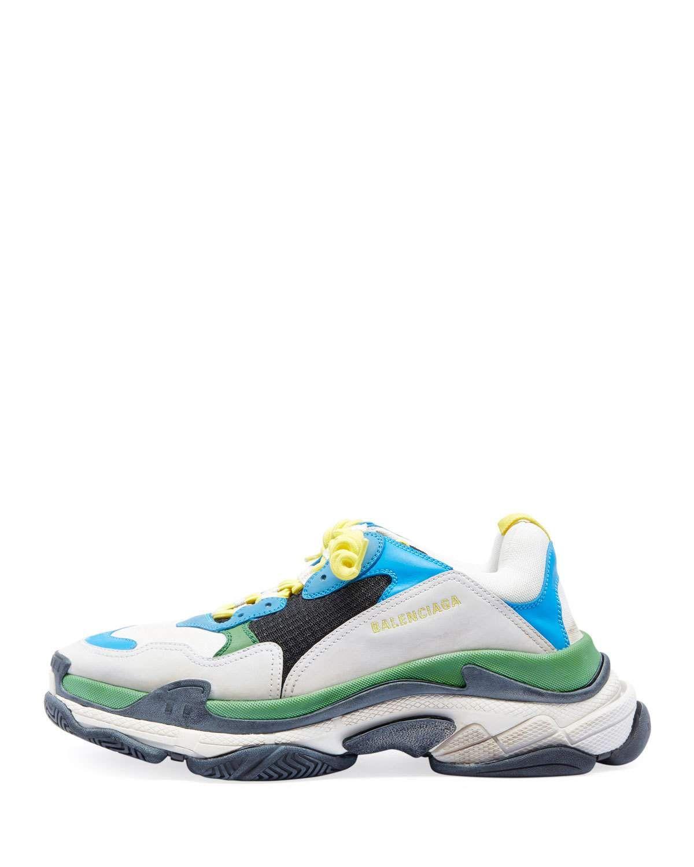 1bbbfc364847 Balenciaga Men s Triple S Mesh   Leather Sneakers
