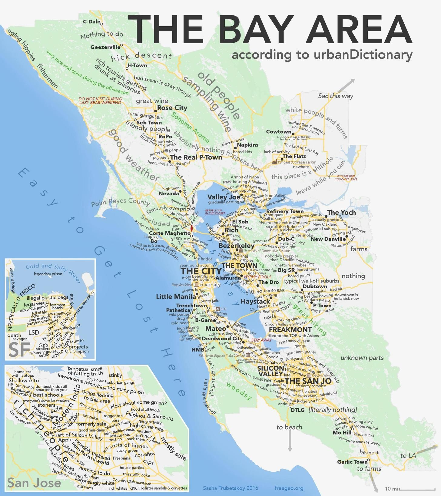 As promised the Bay Area according to Urban Dictionary [OC
