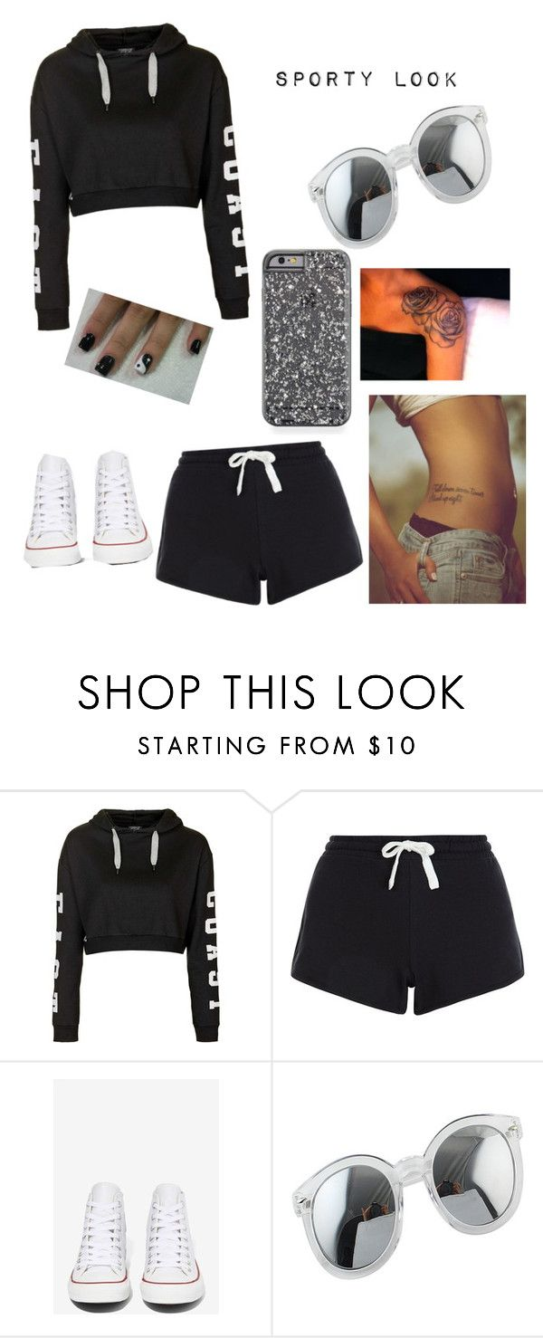 """""""Untitled #6"""" by athina-maria-dimitriou on Polyvore featuring Topshop, Converse, women's clothing, women, female, woman, misses and juniors"""