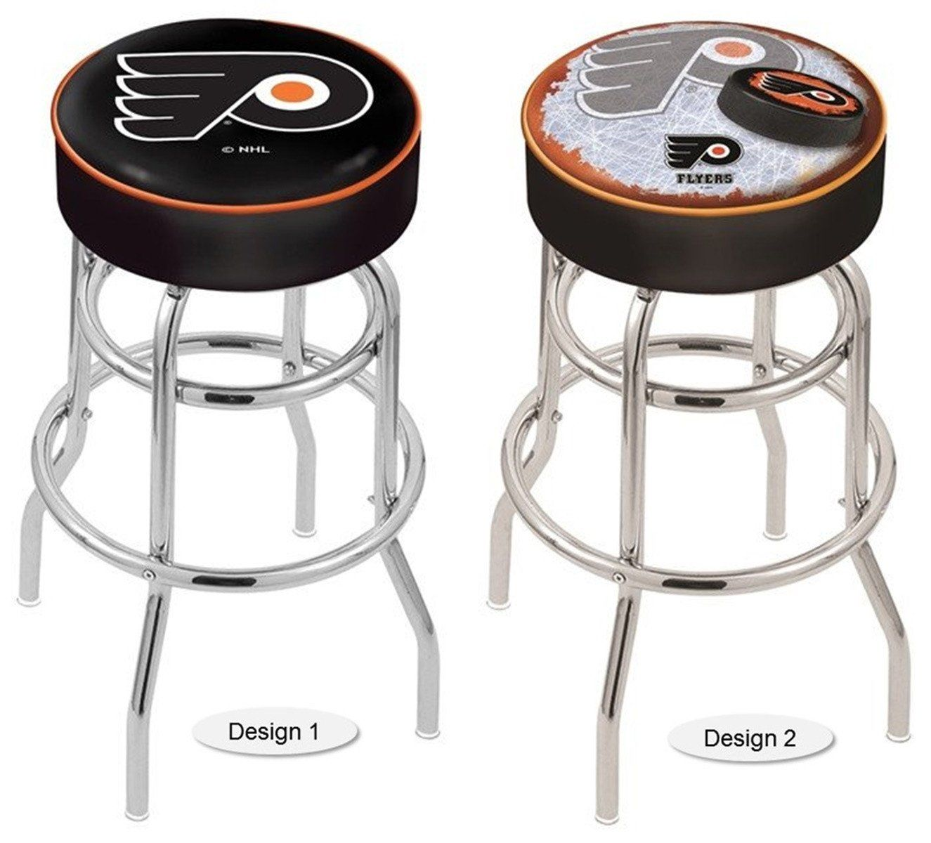 Philadelphia Flyers Black Nhl Retro Chrome Bar Stool