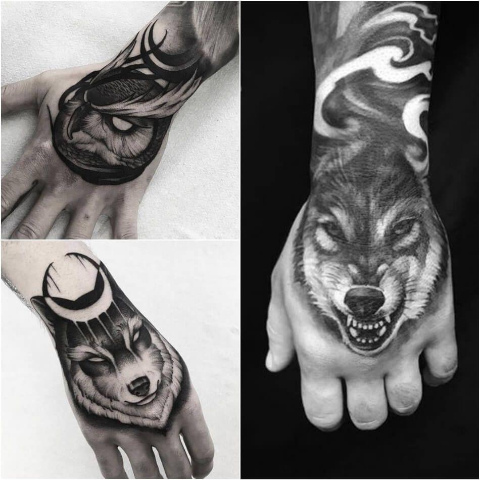 Fantastico тату на руке для парней волк