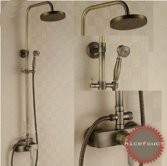 Latest Euro Rain Bathroom Shower Faucet Set W Hand Antique Brass Shower Tub Mixer Tap Contemporary - Lovely shower knobs Inspirational