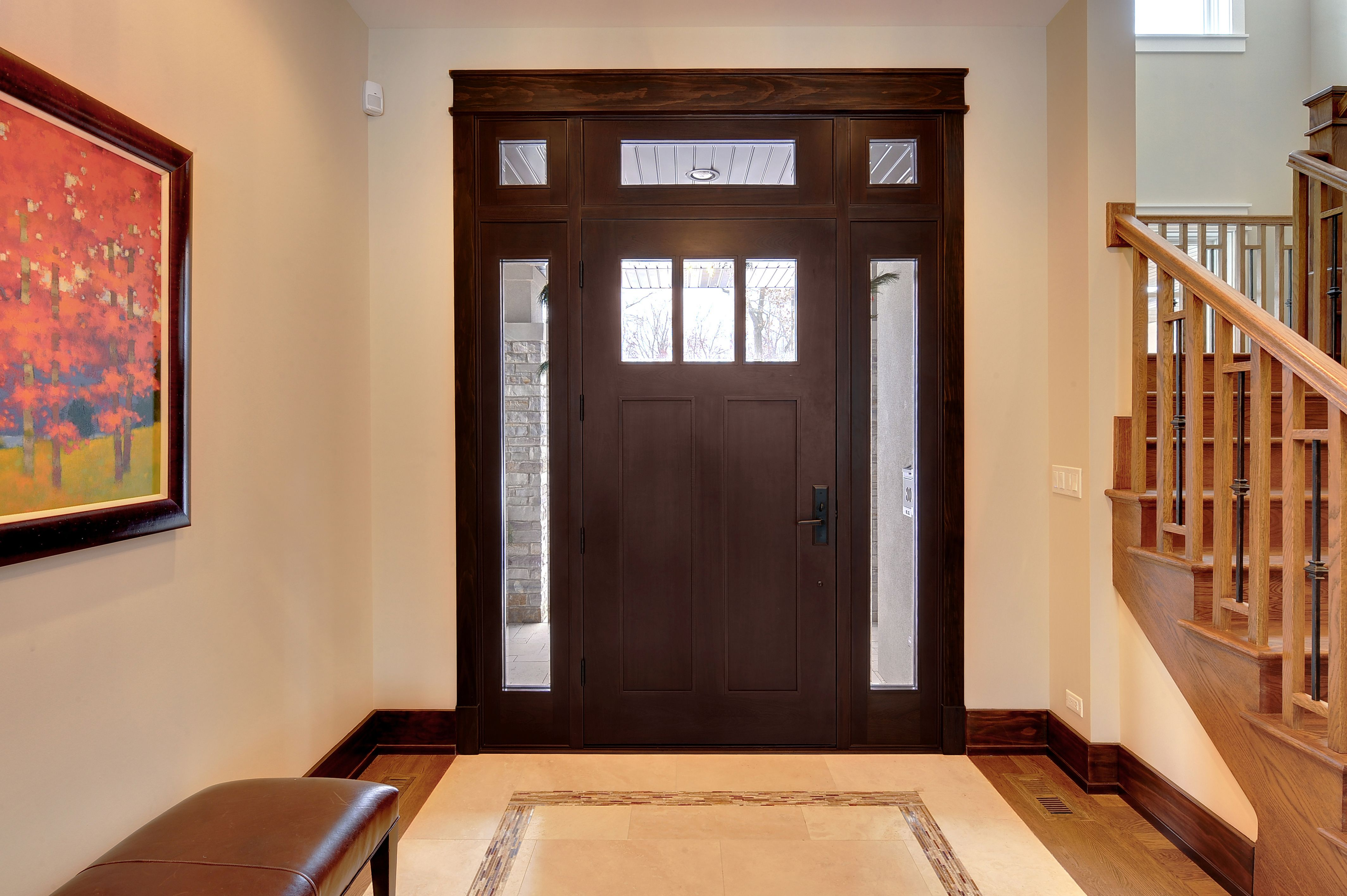 Custom Solid Mahogany Entry Door With Transom And Sidelites. Doors For  Builders Inc.