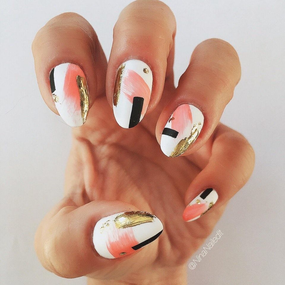 Matte Abstract Nails Redditlaqueristas With Images Gel