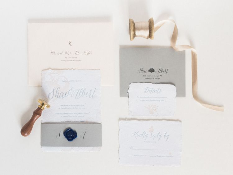 Handmade Paper Wedding Invitations | Wedding Stationery Trends | Mia Maria  Design | Elle Golden Photography